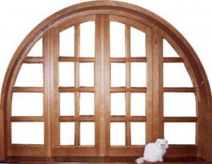 drzwi drewniane łukowe