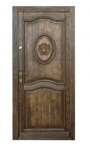 Drzwi drewniane zewnętrzne rzeźbione